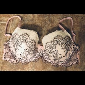 VS DREAM ANGELS LINED DEMI BRA 32DDD